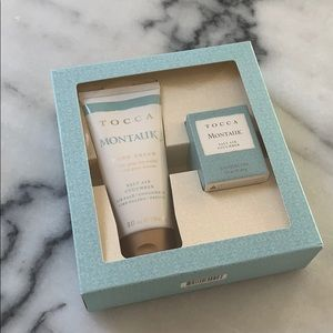 """NEW IN BOX Tocca """"Montauk"""" Cream & Candle Gift Set"""